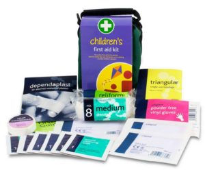 Childrens Out and About First Aid Kit Contents